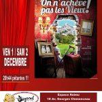 Anne Cangelosi – «On n'achève pas les vieux» – Café-théâtre Le Lézard – Cogolin – 01/12/2017