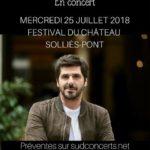 Patrick Fiori – Festival du Château 2018 – Solliès-Pont – 25/07/18