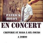 Patrick Boyon – Crêperie St Malo – Six-Fours – 08/09/2018