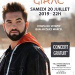 Kendji Girac – Complexe Sportif Jean-Jacques Marcel – Brignoles – 20/07/2019